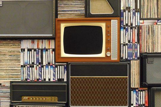 tv with vinyl