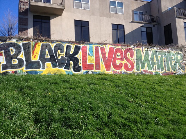 black lives matter street painting